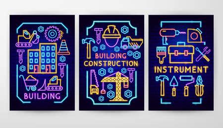 Construction Neon Flyer Concepts