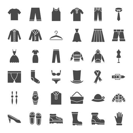 Clothes Solid Web Icons