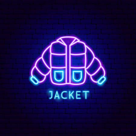 Jacket Neon Label Vettoriali