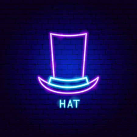 Hat Neon Label