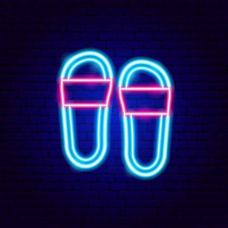 Flip Flops Neon Sign