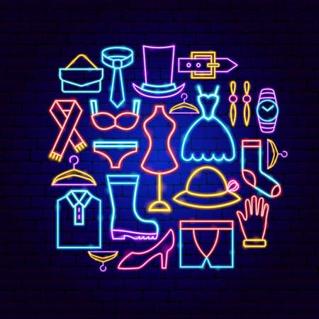 Fashion Clothing Neon Concept