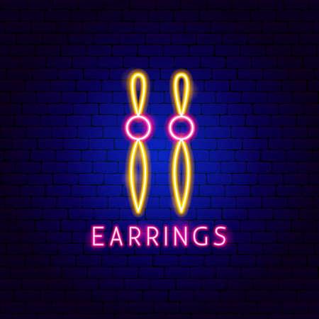 Earrings Neon Label