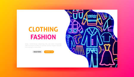 Clothing Fashion Neon Landing Page