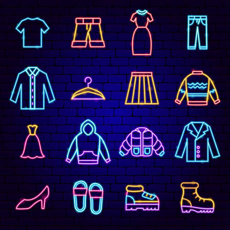Clothes Neon Icons