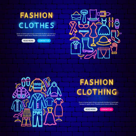 Clothes Neon Banners
