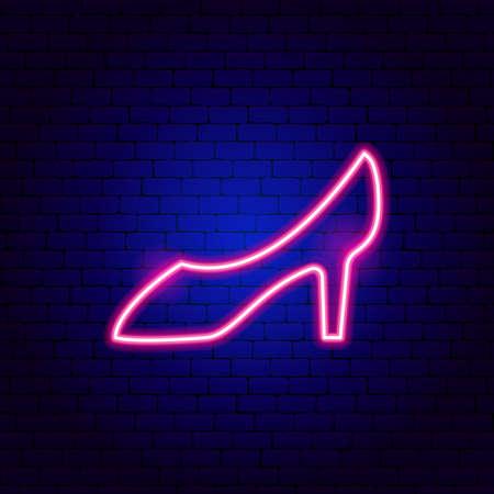Woman Shoe Neon Sign