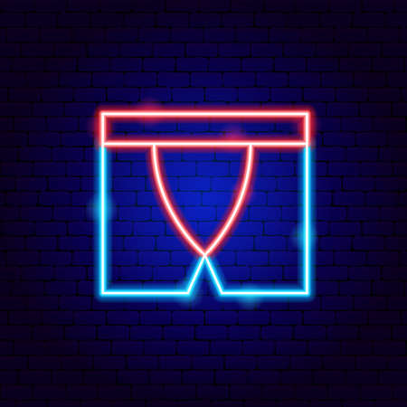 Underpants Neon Sign Vettoriali