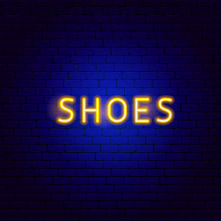 Shoes Neon Text