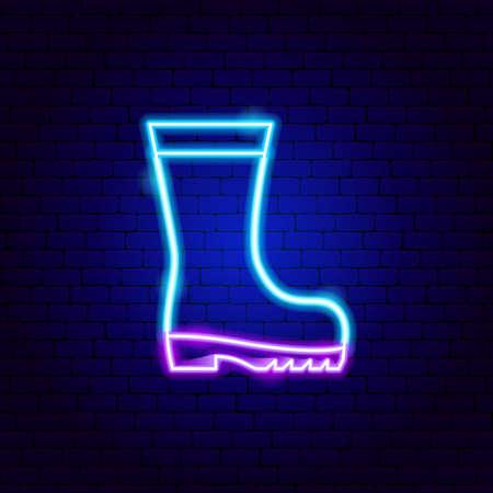 Rain Boot Neon Sign