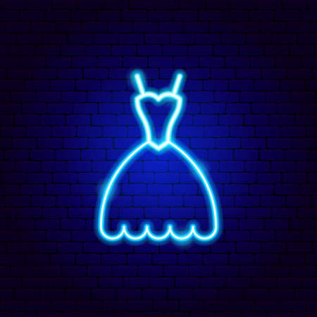 Midi Dress Neon Sign