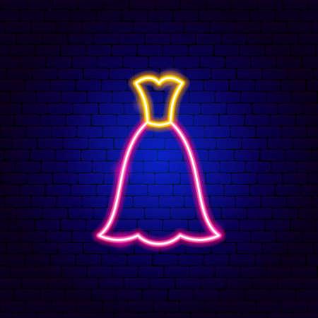 Maxi Dress Neon Sign