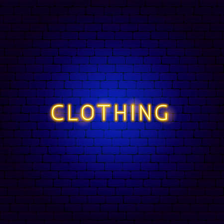 Clothing Neon Text