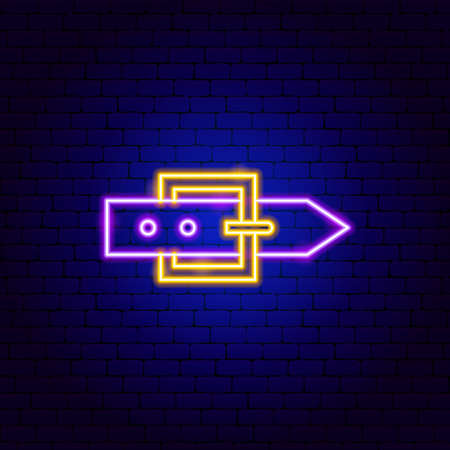 Belt Neon Sign Vettoriali