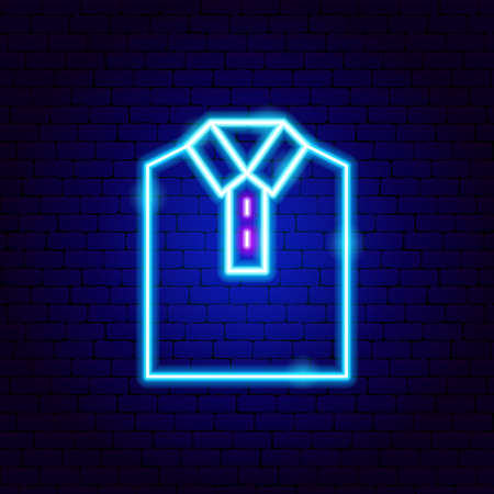 Shirt Collar Neon Sign
