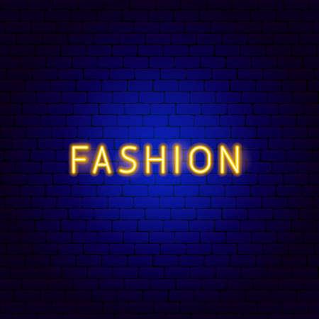 Fashion Neon Text Vettoriali