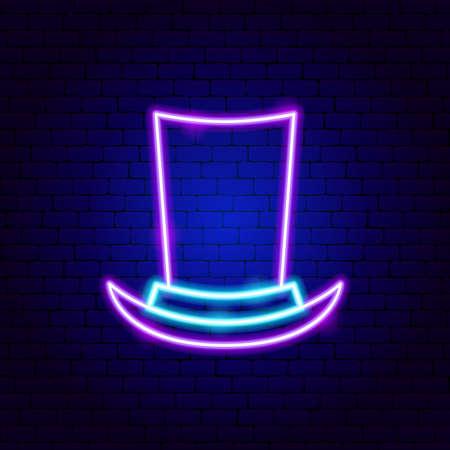 Cylinder Hat Neon Sign