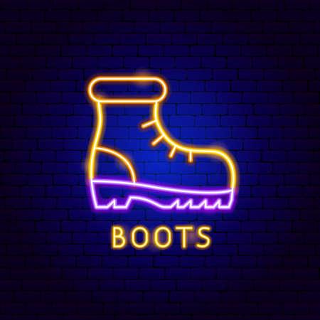 Boots Neon Label Vettoriali