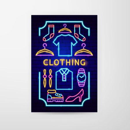 Clothing Neon Flyer Vettoriali