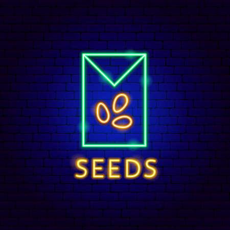 Seeds Neon Label