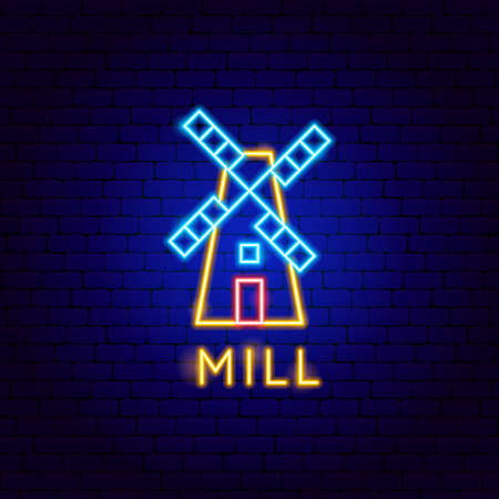 Mill Neon Label