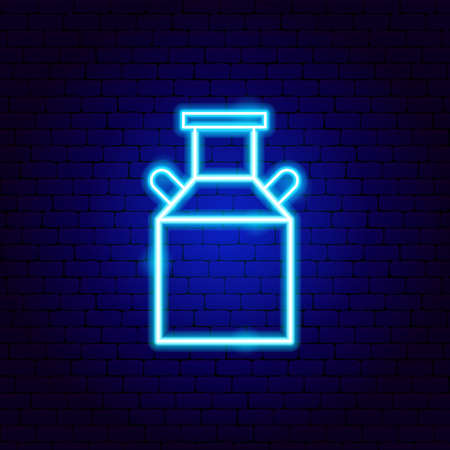 Milk Can Neon Sign