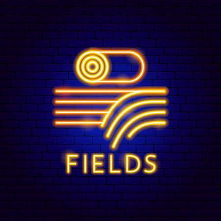 Fields Neon Label