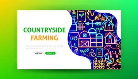 Farming Neon Landing Page