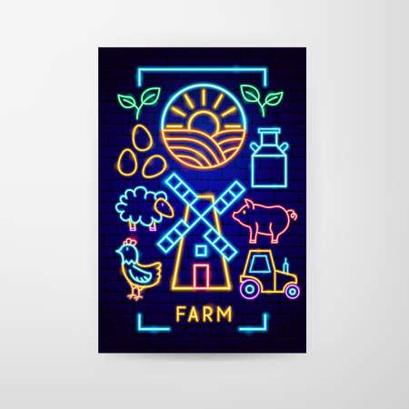 Farm Neon Flyer