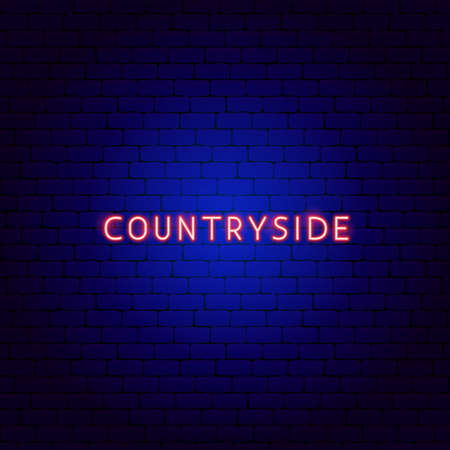 Countryside Neon Text Vettoriali