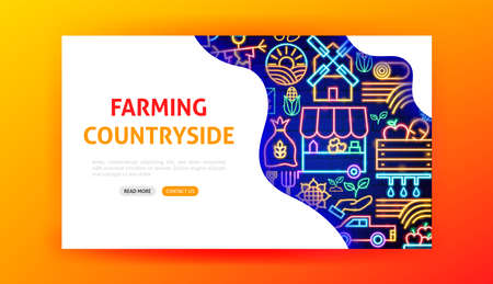 Countryside Neon Landing Page