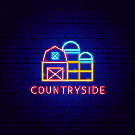 Countryside Neon Label