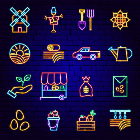 Countryside Neon Icons