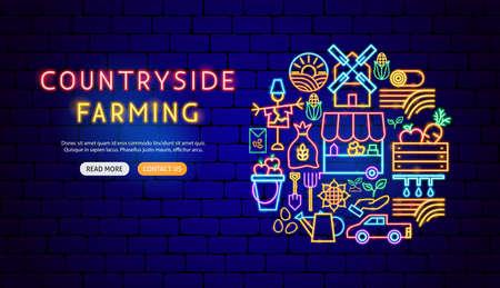 Countryside Neon Banner Design