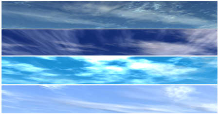 skys: four different skys background for banners
