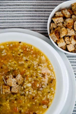 hulled: Vegetarian soup