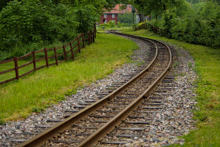 narrow gauge railroad: Narrow gauge railroad still in use.