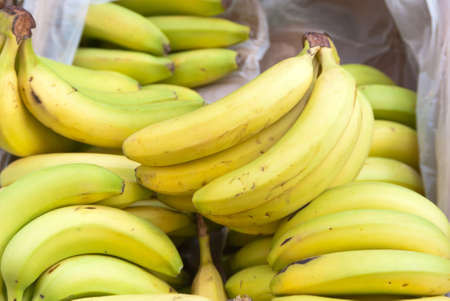 Fruit box with bunches of bananas for sale on farmers market Stock Photo - 12987563