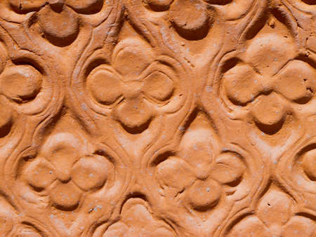 Detail of a large flower pot in terracotta  Stock Photo - 13721598