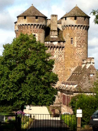 cantal: Anjony castle in France