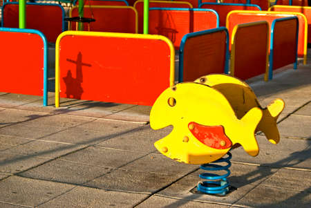 Childrens playground with a rocking play tool  photo