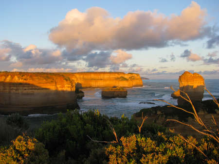 Australia Great Ocean Road, cliffs at sunset