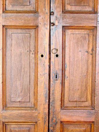 Door Wooden background with lock