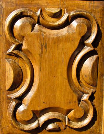 Wooden vintage decorated background
