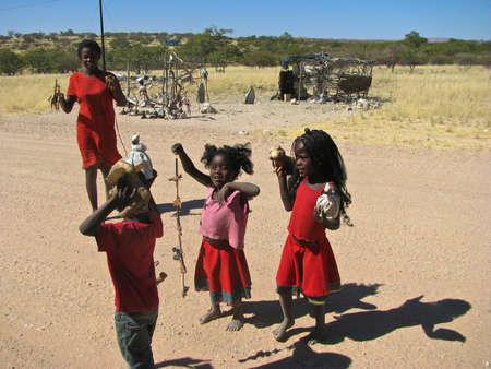 Namibia people selling children object Editorial