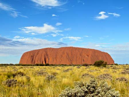 ayers: Ayers Rock, Uluru sunshine and clouds