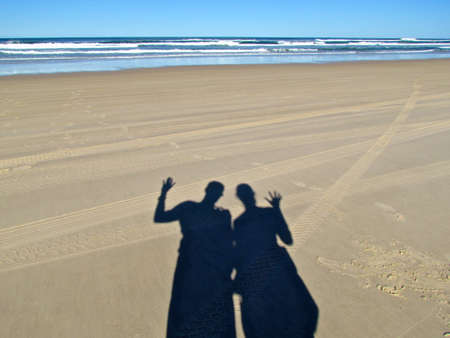 fraser island: Fraser Island, couple greeting
