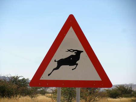 gazelle: Namibia Road sign gazelle