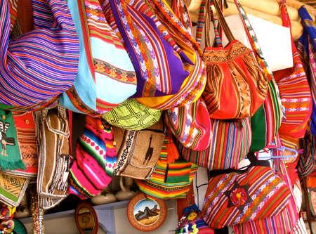 Peru typical local market women bags