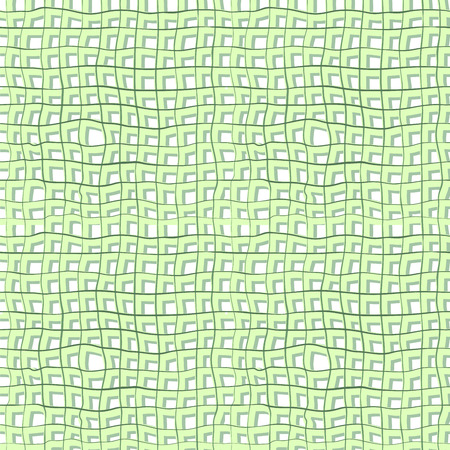 negligent: Seamless structure in the form of intersecting lines of light green imitated burlap, linen crumpled  or old jute fabric Illustration